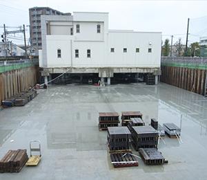 【曳家工事】<br>三筑公民館・老人いこいの家複合施設移転工事